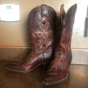 Ariat Cross Studded Cowgirl Boots